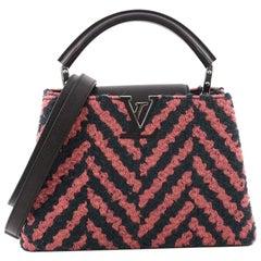 Louis Vuitton Capucines Handbag Chevron Tweed with Leather BB