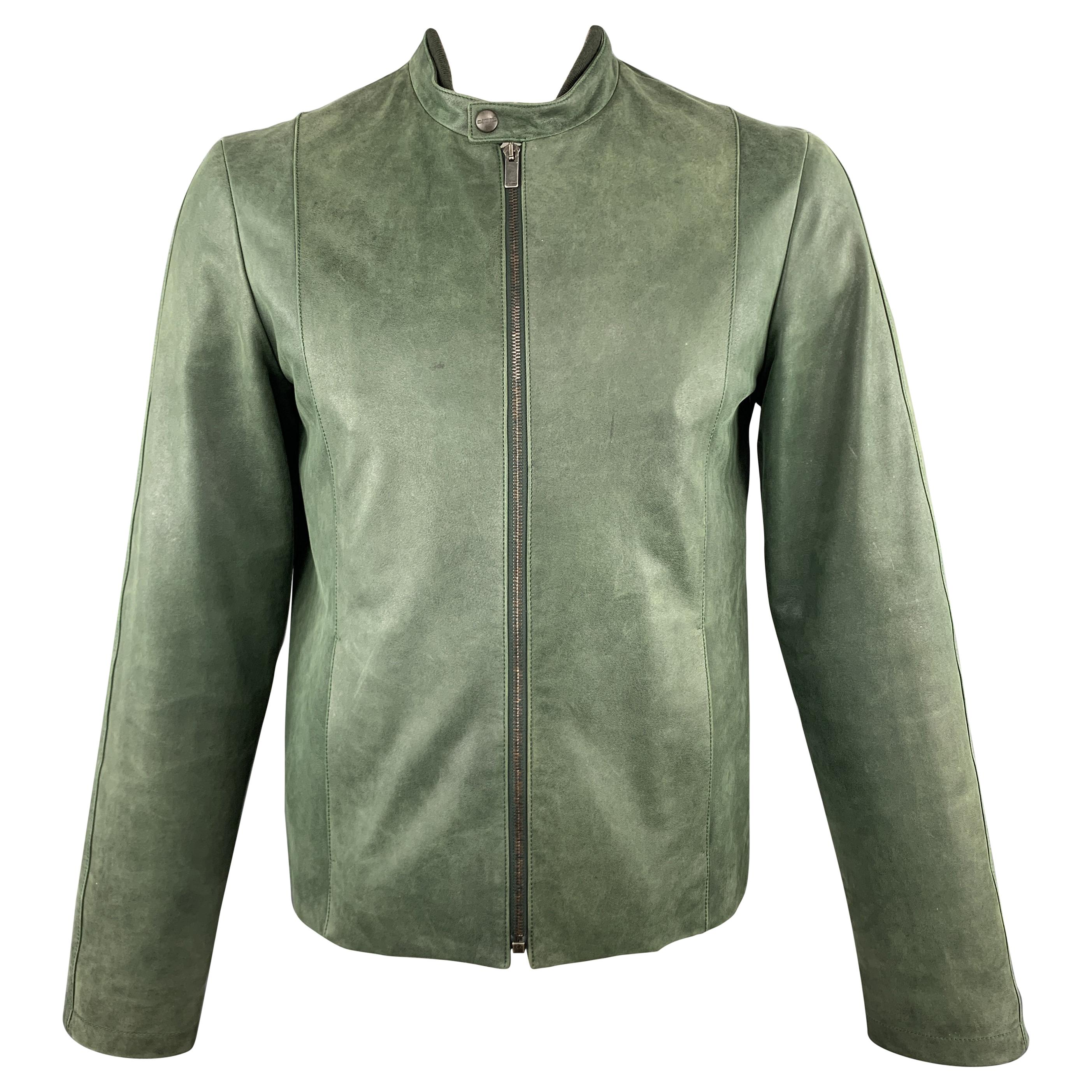 8dd8a0b4 Green Leather Jackets - 44 For Sale on 1stdibs