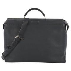 Fendi Selleria Peekaboo Handbag Leather XL