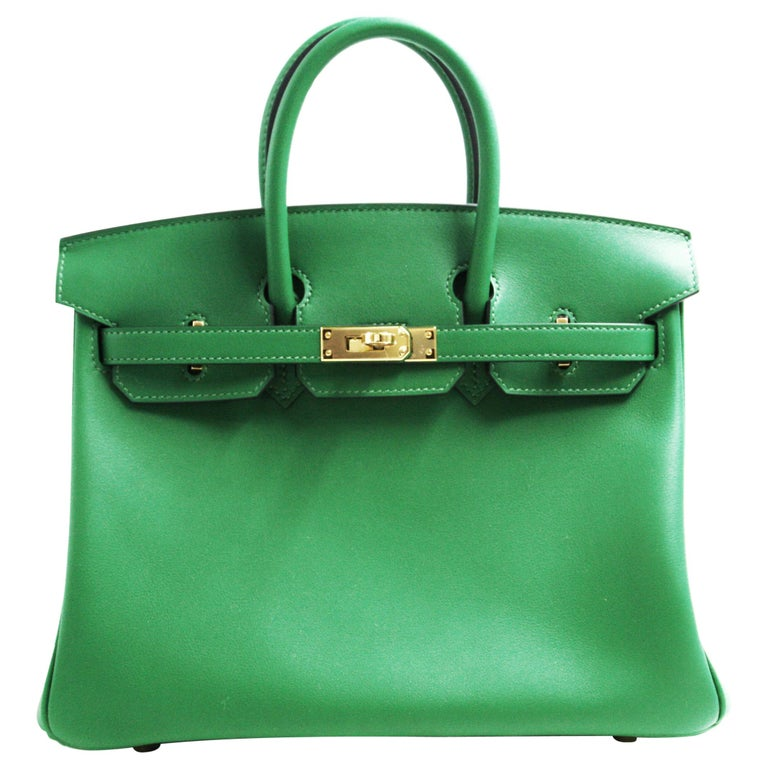 43cf6c0a4379 Hermès Birkin Cactus Swift 25cm Gold Hardware Tote For Sale at 1stdibs