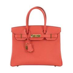 Hermes Birkin Handbag Rose Jaipur Epsom with Gold Hardware 30