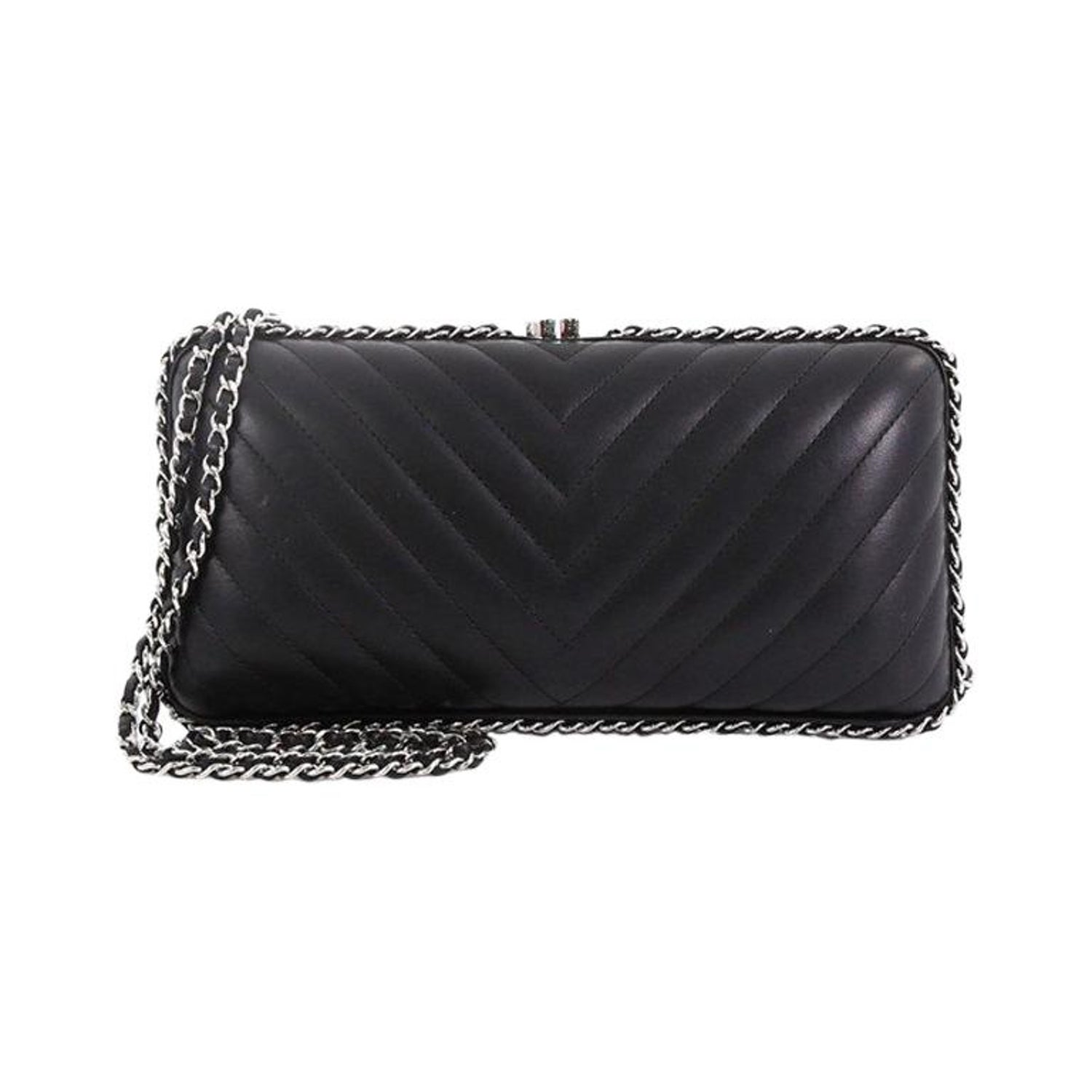5ee8ef8c96be5f Chanel Chain Around Clutch Chevron Lambskin Small at 1stdibs