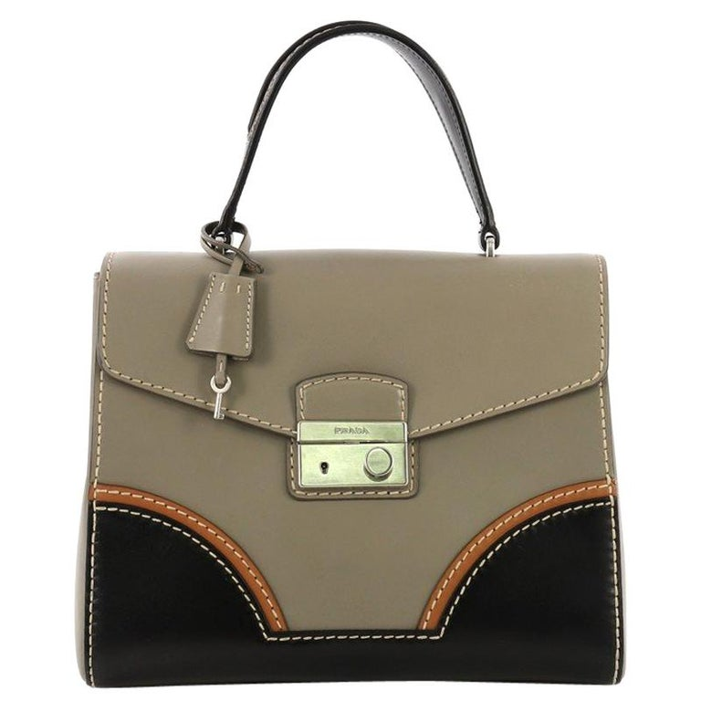 32f168b31 Prada Sound Top Handle Bag Calfskin Medium For Sale at 1stdibs