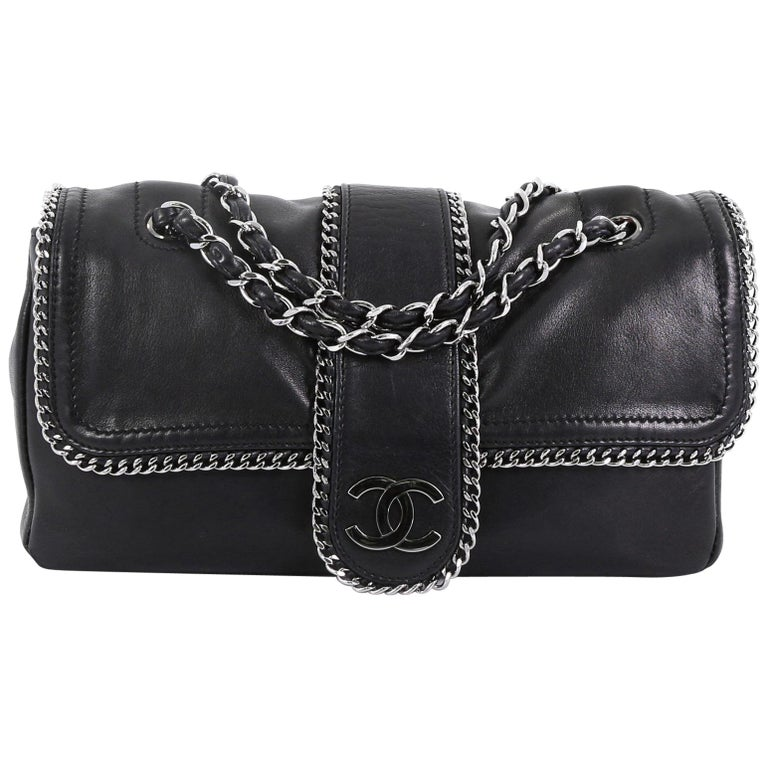 725ef0a9f2a5 Chanel Madison Flap Bag Leather Medium For Sale at 1stdibs