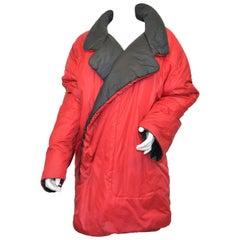 Vintage 1980's Norma Kamali OMO Reversible Sleeping Bag Coat