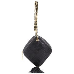 CChanel Vintage Diamond Tassel Crossbody Quilted Lambskin Small