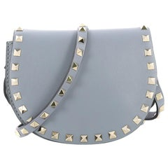 Valentino Rockstud Half Moon Crossbody Bag Leather Mini