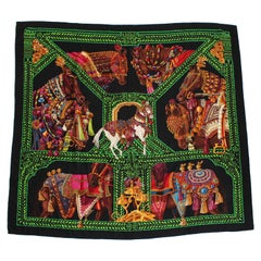 Hermes Silk Cashmere Scarf Shawl La Danse Du Cheval Marwari Annie Faivre 140cm