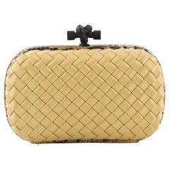 Bottega Veneta Box Knot Clutch Intrecciato Satin Small