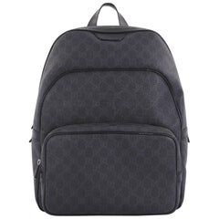 Gucci Zip Pocket Backpack GG Coated Canvas Medium