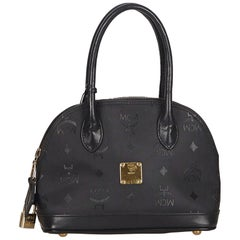 MCM Black Nylon Fabric Visetos Mini Handbag Germany w/ Padlock