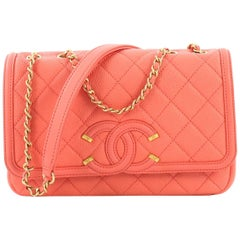 Chanel Filigree Flap Bag Quilted Caviar Small,