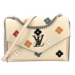 Louis Vuitton Mylockme Handbag Flower Embellished Leather BB