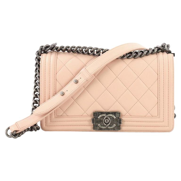 b6fd2a664913 Chanel Boy Flap Bag Quilted Lambskin Old Medium For Sale at 1stdibs