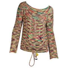 Multicolor Chloe Cotton-Blend Knit Sweater