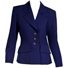 Purple Vintage Saint Laurent Rive Gauche Blazer