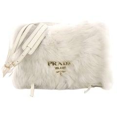 Prada Etiquette Shoulder Bag Fur and Glace Calf