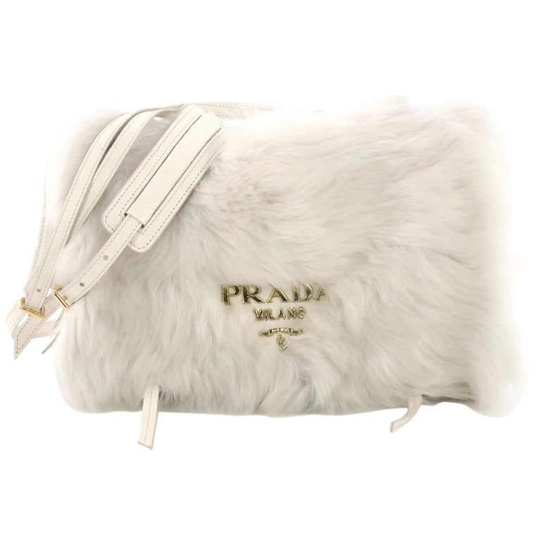 d0debbbb5327 Prada Etiquette Shoulder Bag Fur and Glace Calf For Sale at 1stdibs