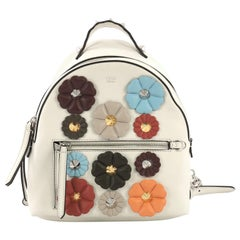 Fendi By The Way Flowerland Backpack Embellished Leather Mini