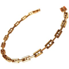 Hermès Bracelet Openwork meshes H-shaped Yellow Gold 18 cm