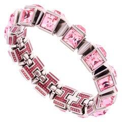 Simon Harrison Hannah Light Pink Crystal Medium Bracelet