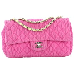 Chanel Classic Single Flap Bag Quilted Mesh Medium
