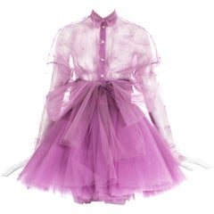 Dolce & Gabbana pink tulle skirt and blouse evening ensemble, ss 1992