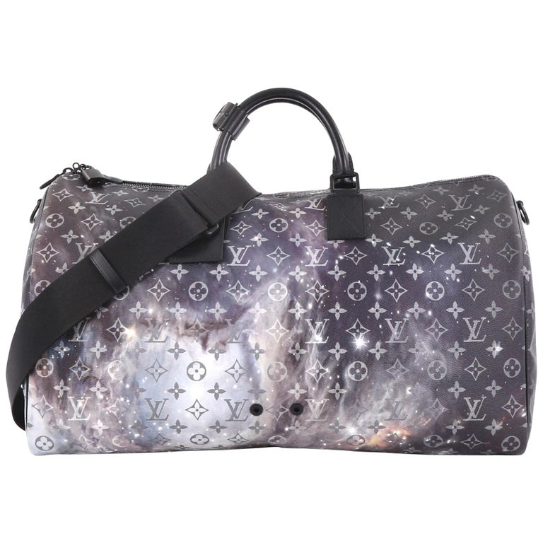 99db574ba9ed Louis Vuitton Keepall Bandouliere Bag Limited Edition Monogram Galaxy Canvas  50 For Sale