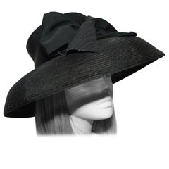 Tracey Tooker Black Straw Hat with Turn Down Brim