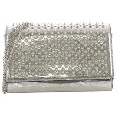 Christian Louboutin Paloma Clutch Spiked Leather