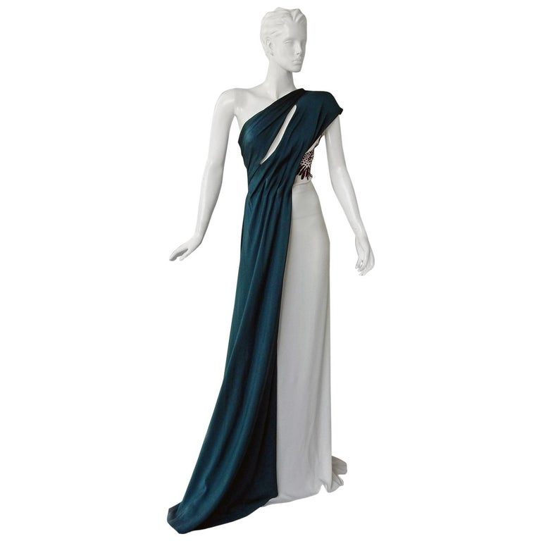 Vionnet of Paris Exquisite Goddess Beaded Silk Gown Dress  NWT For Sale