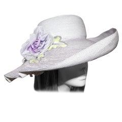 Eric Javits Lavender Straw Hat