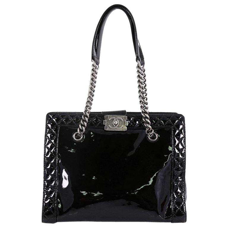 e773333a2d53 Chanel Reverso Boy Chain Tote Patent Medium For Sale at 1stdibs