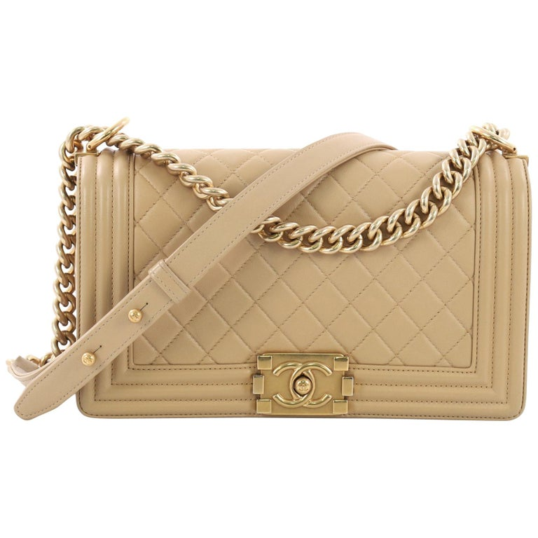 6557a7866cfc Chanel Boy Flap Bag Quilted Lambskin Old Medium For Sale at 1stdibs