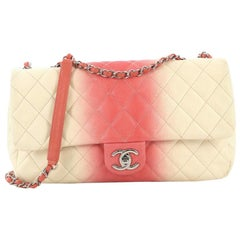 Chanel CC Chain Flap Bag Quilted Ombre Caviar Large