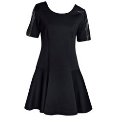Black Jonathan Simkhai Neoprene A-Line Dress