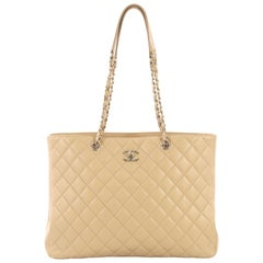Chanel Classic CC Shopping Tote Quilted Calfskin Large