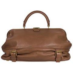 Brown Michael Kors Leather Top-Handle Bag