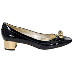 Black Jimmy Choo Patent Leather Kitten Heels