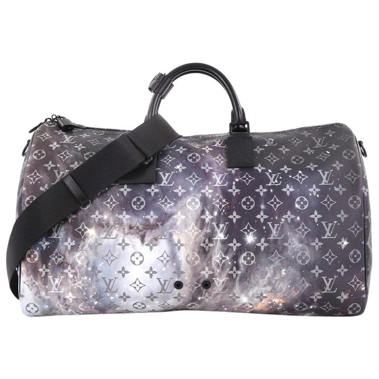 76aaf77d22bf Louis Vuitton Keepall Bandouliere Bag Limited Edition Monogram Galaxy  Canvas 50 For Sale at 1stdibs