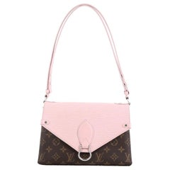 Louis Vuitton Saint Michel Handbag Monogram Canvas and Epi Leather