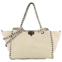 Valentino Rockstud Tote Pebbled Leather Medium