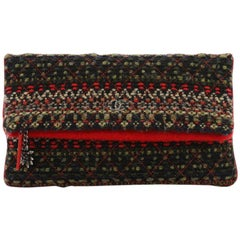 Chanel Paris-Salzburg Edelweiss Clutch Quilted Tweed