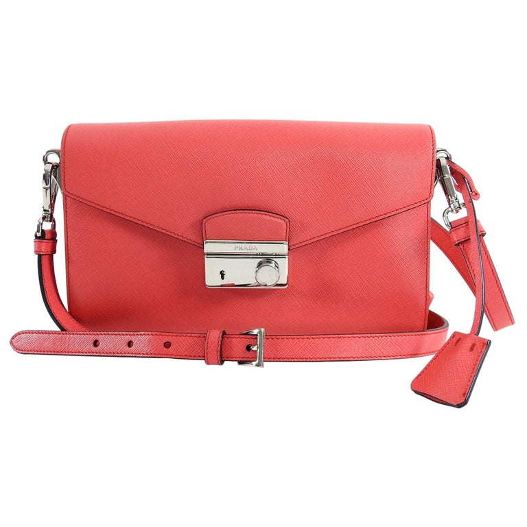 2f24aa2841858e Prada Hot Pink Saffiano Lux Convertible 2 in 1 Sound Bag at 1stdibs