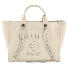 Chanel Deauville Chain Tote Studded Caviar Small