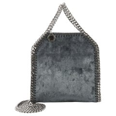 Stella McCartney Falabella Fold Over Crossbody Bag Velvet Tiny