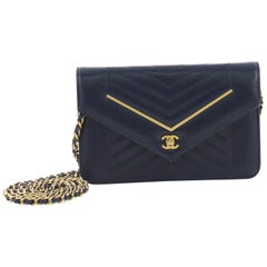 Chanel Envelope Wallet on Chain Chevron Lambskin