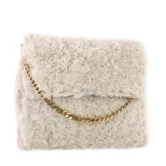 Celine Gourmette Shoulder Bag Fur Medium