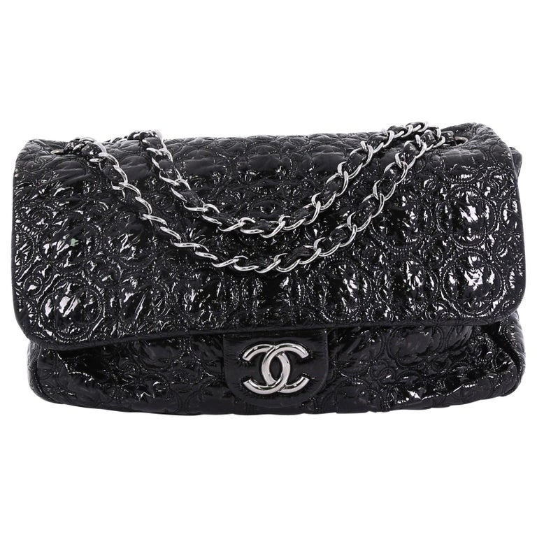 d07737b814e4 Chanel Rock In Moscow Flap Bag Patent Vinyl Jumbo For Sale at 1stdibs