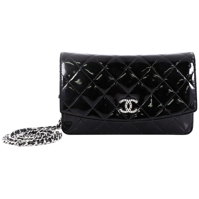 4ba070f142bc Chanel Brilliant Wallet on Chain Quilted Patent at 1stdibs